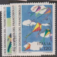 Italy Republic S 1389-1391 1977 Stamp Day ,used - 6. 1946-.. Republic