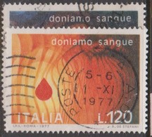 Italy Republic S 1392-1393 1977 Blood Donors,used - 1971-80: Used