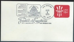 US  1979   Sc#U581  75th Anniversary Of 1904 World's Fair Cancel On Event Cover - Universal Expositions