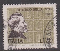 Italy Republic S 1394 1977 Quintino Sella,used - 1971-80: Used
