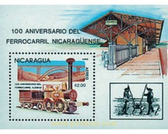 Ref. 56344 * MNH * - NICARAGUA. 1985. 150th ANNIVERSARY OF THE RAILWAY . 150 ANIVERSARIO DEL FERROCARRIL - Nicaragua
