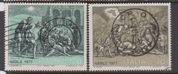 Italy Republic S 1399-1400 1977 Christmas,used - 1971-80: Used