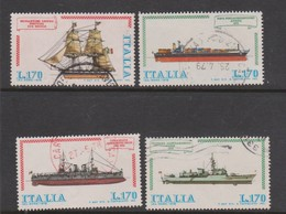 Italy Republic S 1412-1415 1978 Italian Ships 2nd Issue,used - 1971-80: Used