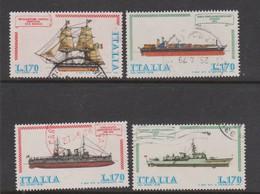 Italy Republic S 1412-1415 1978 Italian Ships 2nd Issue,used - 6. 1946-.. Republic