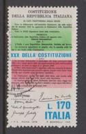 Italy Republic S 1422 1978 30th Anniversary Of Constitution,used - 6. 1946-.. Republic