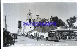 116171 MEXICO JUAREZ GUADALUPA MISSION & MARKET POSTAL POSTCARD - Messico