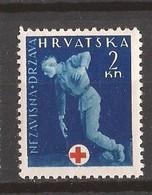 1943  2   ROT KREUZ   CROAZIA KROATIEN  MNH  LUX - Croazia