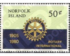 Ref. 147972 * MNH * - NORFOLK. 1980. 75 ANNIVERSARY OF THE ROTARY CLUB INTERNATIONAL . 75 ANIVERSARIO DEL CLUB ROTARIO I - Norfolk Island