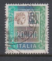 Italy Republic S 1442 B 1986 Italia Turrita Lire 20.000,used - 1971-80: Used