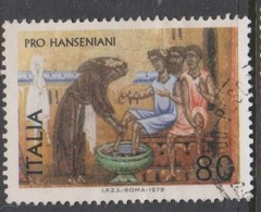 Italy Republic S 1445 1979 Pro Hanseniani Propaganda,used - 1971-80: Used