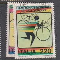 Italy Republic S 1446-1447 1979 World Cyclecross Championship,used - 1971-80: Used