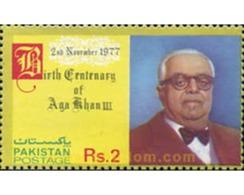 Ref. 349212 * MNH * - PAKISTAN. 1977. CENTENARIO DEL NACIMINETO DE AGA-KHAN II - Celebridades