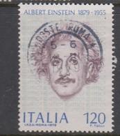 Italy Republic S 1450 1979 Birth Centenary Of Albert Einstein,used - 6. 1946-.. Republic
