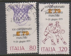 Italy Republic S 1465-1466 1979 21st European Basketball Championship,used - 1971-80: Used