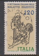 Italy Republic S 1467 1979 Digestive Aliments Study Week,used - 6. 1946-.. Republic