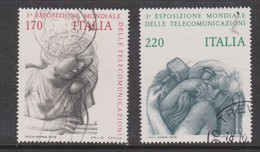 Italy Republic S 1471-1472 1979 3rd World Telecommunications Exhibition,used - 6. 1946-.. Republic