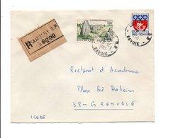 AFFRANCHISSEMENT COMPOSE SUR LETTRE RECOMMANDEE DE CHAMBERY 1965 - Marcophilie (Lettres)