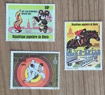 Benin 1980 Jeux Olympiques Moscow 1980 Judo Hipica Equestres Horse Caballo Bear - Bénin – Dahomey (1960-...)