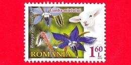 ROMANIA - Usato - 2012 - Flora E Fauna - Fiori - Flowers - Borago Officinalis (Starflower) - 1.60 L - 1948-.... Repubbliche