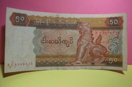 CENTRAL BANK OF  MYANMAR  - 50  - FITTY  KYATS - - Myanmar