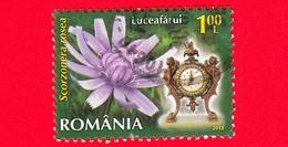 ROMANIA - Usato - 2013 - Fiori - Flowers - Scorzonera Rosea - Orologio 7 A.m - 1.00 - 1948-.... Repubbliche