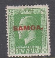 Samoa SG 134 1916-19 New Zealand Stamp King George V Overprinted,half Penny,Mint Hinged - Samoa