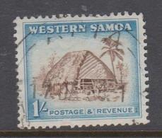 Samoa SG 226 1952 Definitives One Shilling Sepia And Blue,used - Samoa