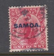 Samoa SG 116 1914 New Zealand Stamp Overprinted,six Penny Red,used - Samoa