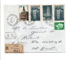AFFRANCHISSEMENT COMPOSE SUR LETTRE RECOMMANDEE AR DE COGNIN LES GORGES 1969 - Poststempel (Briefe)
