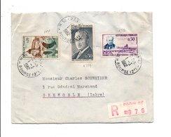 AFFRANCHISSEMENT COMPOSE SUR LETTRE RECOMMANDEE DE PARIS 47 1962 - Marcophilie (Lettres)