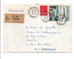 AFFRANCHISSEMENT COMPOSE SUR LETTRE RECOMMANDEE DE LE PAS DE L'ECHELLE HAUTE SAVOIE 1972 - Marcophilie (Lettres)