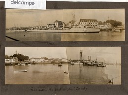 """2 Grandes Photos -  LORIENT -  Le Port Vu Du """" Condé """"  ( Assemblage De 2 Photos) - Lieux"""