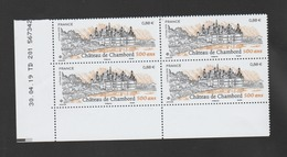 FRANCE / 2019 / Y&T N° 5331 ** : Château De Chambord X 4  - Coin Daté 2019 04 30 ( ) - TD 201 - 2010-....
