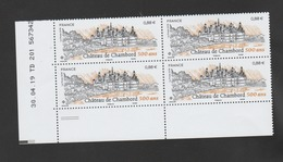 FRANCE / 2019 / Y&T N° 5331 ** : Château De Chambord X 4  - Coin Daté 2019 04 30 (=) - TD 201 - 2010-....