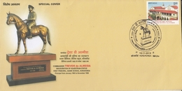 INDIA 2015  Equestrian Statue  Commander Trevor De Almeida  Korukonda  Special Cover  # 20599   D Inde  Indien - India