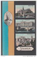 AK -Patriotika - STOCKHOLM Mit König Gustav V. Um 1910 - Schweden
