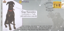INDIA 2019  Drugs  Smeller Dog  Stop Narcotics Consumption Or Trade  Bidar  Special Cover  # 20581   D Inde  Indien - Drugs