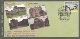 INDIA 2019  Islam  Mosque  Bahamani Tombs  Ashtoor Tomb  Bidar  Special Cover  # 20594   D Inde  Indien - Islam