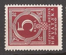 1941  9  PORTO     CROAZIA KROATIEN  MNH  LUX - Croazia