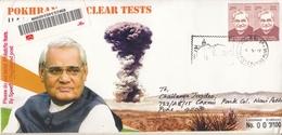 INDIA 2019  Atom  Pokharan II Nuclear Tests  1998  PM Atal Bihari Vajpayee  Special Cover  # 20597   D Inde  Indien - Atom