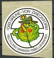 Vignette  Aufkleber  Recycling- Marken - Vignetten (Erinnophilie)