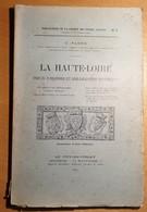 Velay La Haute Loire Précis D'histoire Et Bibliographie Historique 1925 C. FABRE Velay - Auvergne