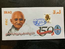IRAQ 2019 MNH 150th Anniversary Of The Mahatma Gandhi Stamp LTD India FDC 2 - Iraq