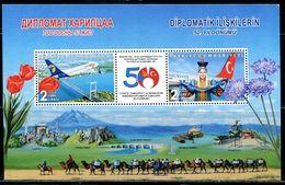 XC0674 Turkey 2019 And Mongolian Friendship Flag Bridge Flower S/S MNH - Nuevos