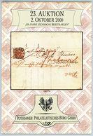 23. Auktion Potsdamer Philatelistsiches Büro Oktober  2000 - 150 Jahre Sächsische Briefmarken - Auktionskataloge