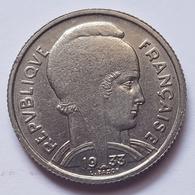 PIECE FRANCE - 5 FRANCS - 1933 - L.BAZOR - MARIANNE - EPIS DE BLE, GRAPPE RAISIN, FEUILLES D'OLIVIER ET CHÊNE - France