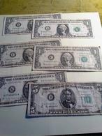 Lot De 6 Billets Des Etats Unis - Billetes De La Reserva Federal (1928-...)