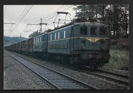 BB 919 & BB 922 En UM à Le Gauchet Train SNCF Locomotive CPSM Carte De Collection Chemin De Fer Photo Fourneuf - Ferrovie