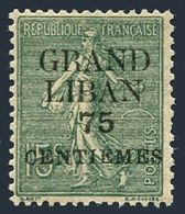 Lebanon 4,lightly Hinged.Michel 4. Grand Liban And New Value Surcharged,1924. - Lebanon