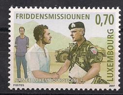 2007  Luxemburg Mi. 1760**MNH   15 Jahre Friedensmissionen Der Luxemburgischen Streitkräfte - Ungebraucht